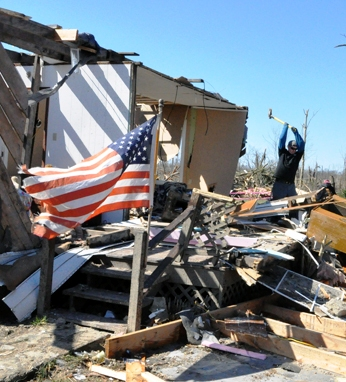 People Reach Out to Storm Victims