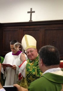 Cardinal Dolan at his titular Church, Our Lady of Guadalupe.
