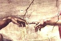 Michelangelo Buonaroti, Creation of Adam, Sistine Chapel, 1510