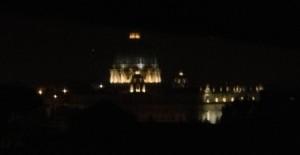 The dome of St. Peter at 5:30 a.m.