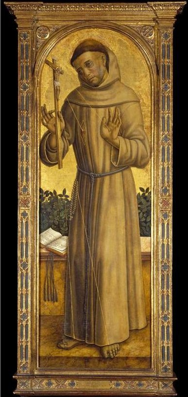St. Francis, painting by Vittorio Crivelli, after 1490, El Paso Museum of Art