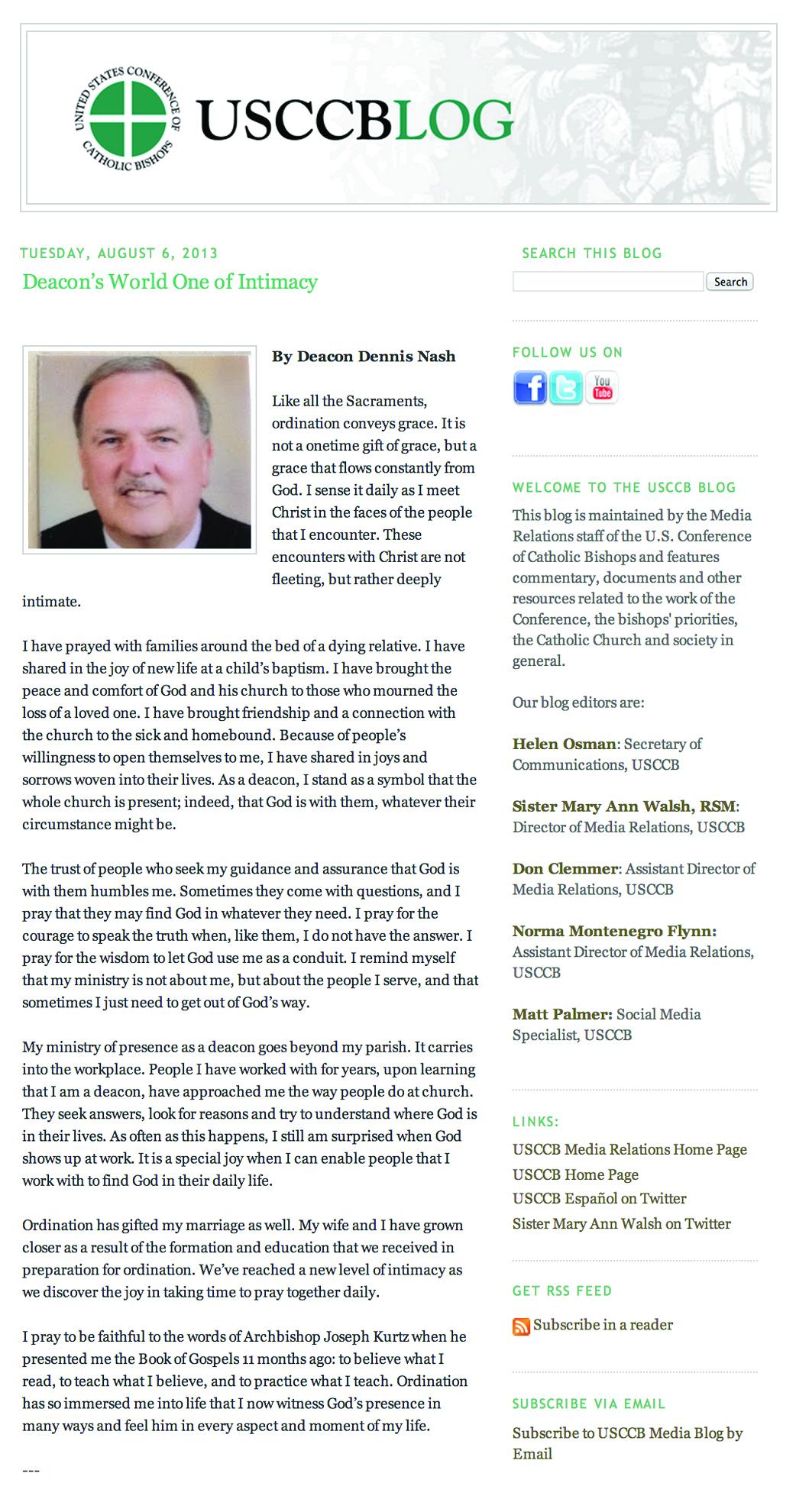 Deacon Dennis Blog SS