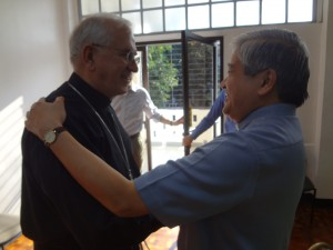 Meeting with Archbishop Socrates Villegas of Lingayen-Dagupan and President of the Filippino Bishops' Conference.