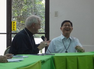 Meeting with Cardinal Tagle, Archbishop of Manila