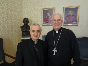 Meeting with Archbishop Giuseppe Pinto, nuncio to the Philippines at the  nunciature in Manila