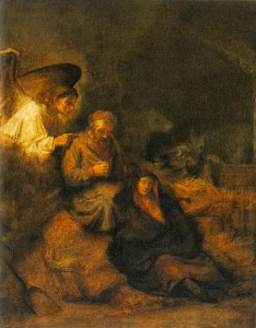 The Dream of St. Joseph by Rembrandt Van Rijn, 1650-1655