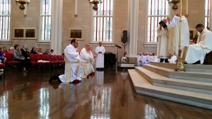 The ordination of Fathers Peter Bucalo, Shayne Duvall, and Jason Harris on May 30, 2015