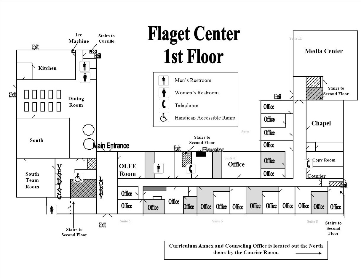 Flaget Center 1st Floor Map