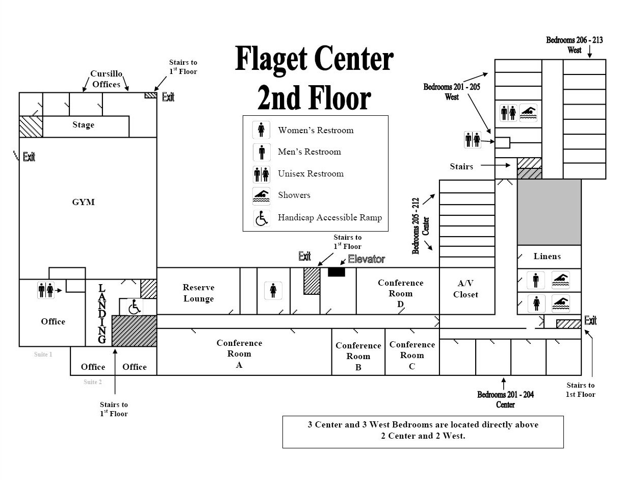 Flaget Center 2nd Floor Map