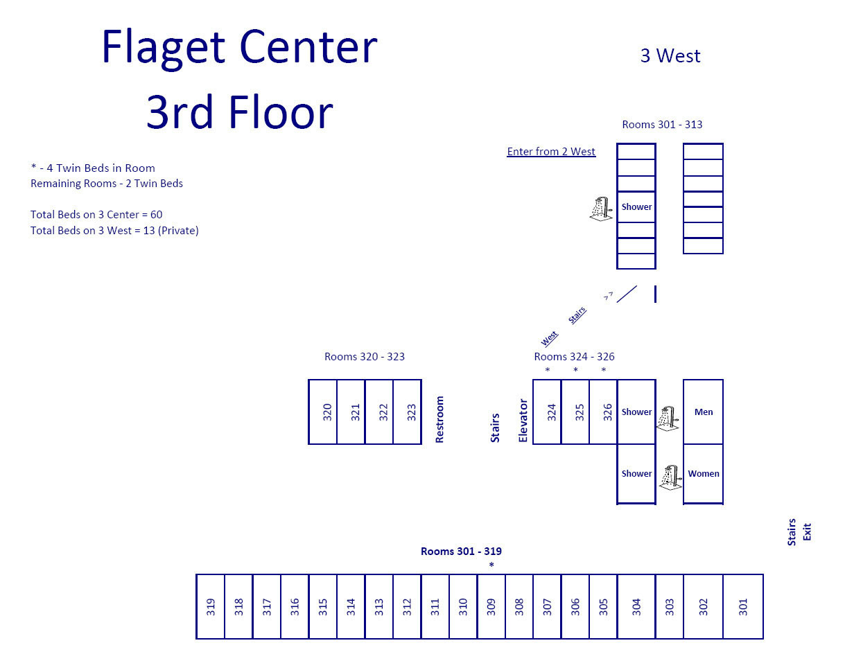 Flaget Center 3rd Floor Map