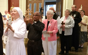 Women and men religious attended a vespers service at the Cathedral of the Assumption Sept. 13 as part of the Year of Consecrated Life. (Record Photo by Marnie McAllister)