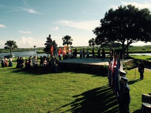 Reenactment of first landing at St. Augustine in 1565.