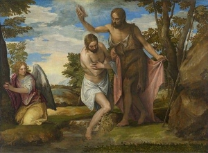 The Baptism of Christ. Veronese (Paolo Caliari). c. 1550-60