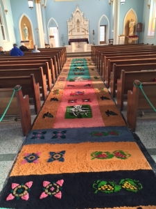 The alfombra at the Church of the Annunciation in Shelbyville