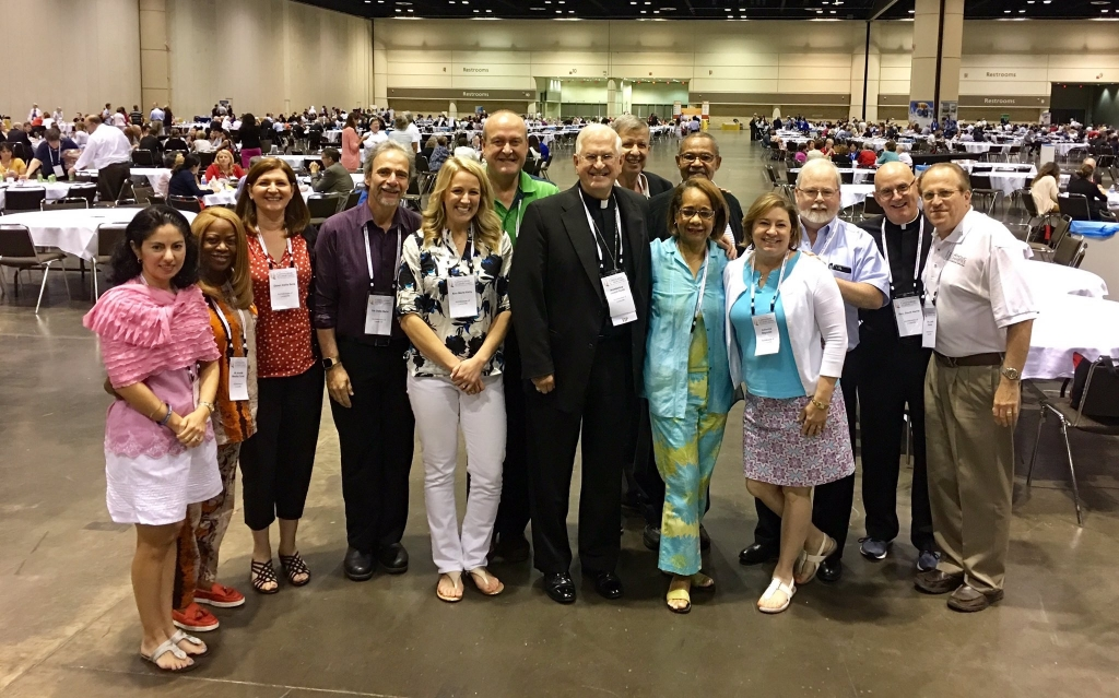 The Louisville delegation at the Convocation of Catholic Leaders.